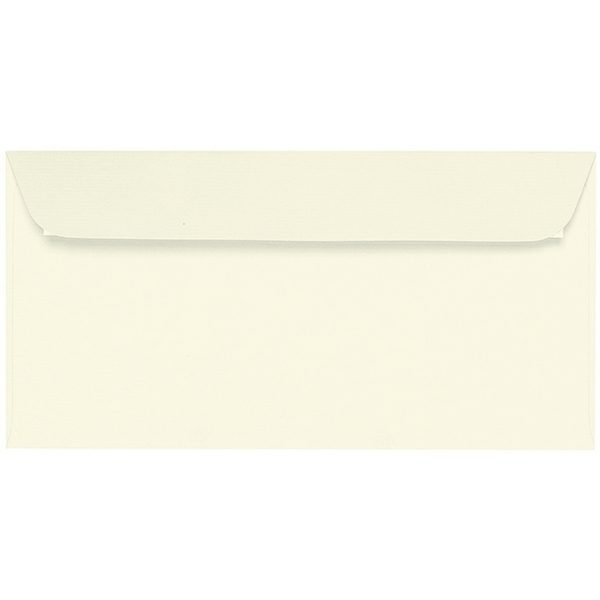 Artoz Samsa - 'Ivory' Envelope. 224mm x 114mm 135gsm DL Peel/Seal Envelope.