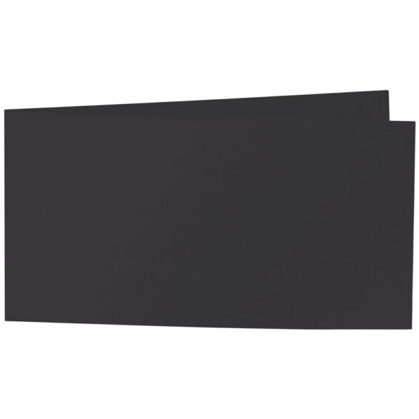 Artoz Samsa - 'Black' Card. 420mm x 105mm 270gsm DL Bi-Fold (Short Edge) Card.