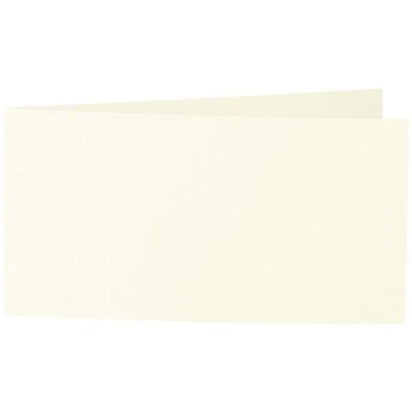 Artoz Samsa - 'Ivory' Card. 420mm x 105mm 270gsm DL Bi-Fold (Short Edge) Card.