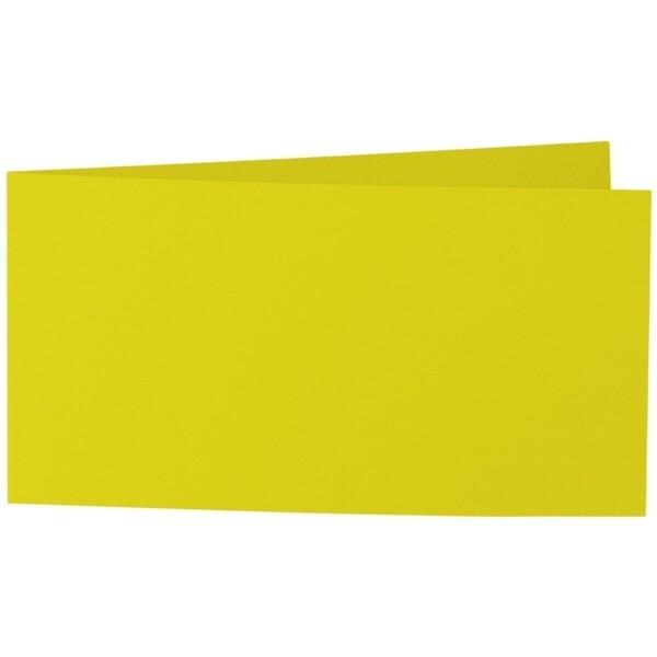 Artoz Samsa - 'Lime' Card. 420mm x 105mm 270gsm DL Bi-Fold (Short Edge) Card.