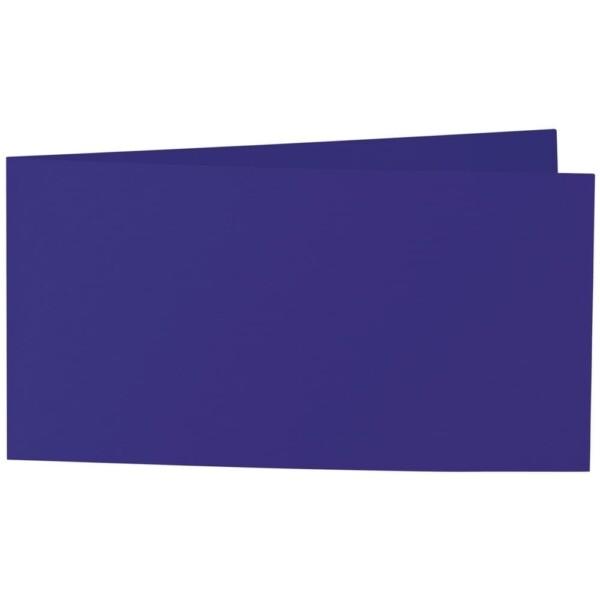 Artoz Samsa - 'Violet' Card. 420mm x 105mm 270gsm DL Bi-Fold (Short Edge) Card.