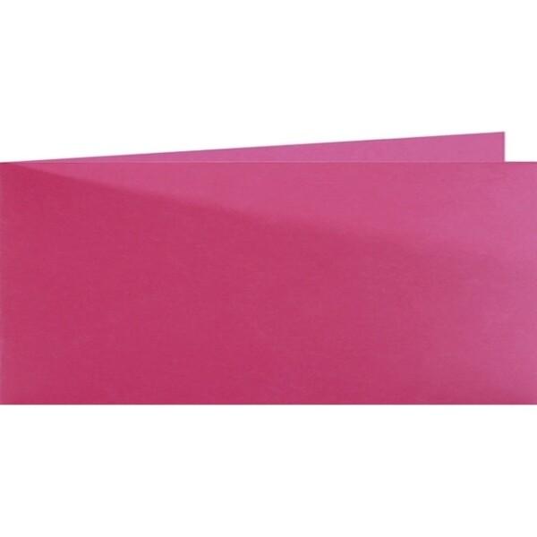 Artoz Samsa - 'Pink' Card. 420mm x 105mm 270gsm DL Bi-Fold (Short Edge) Card.