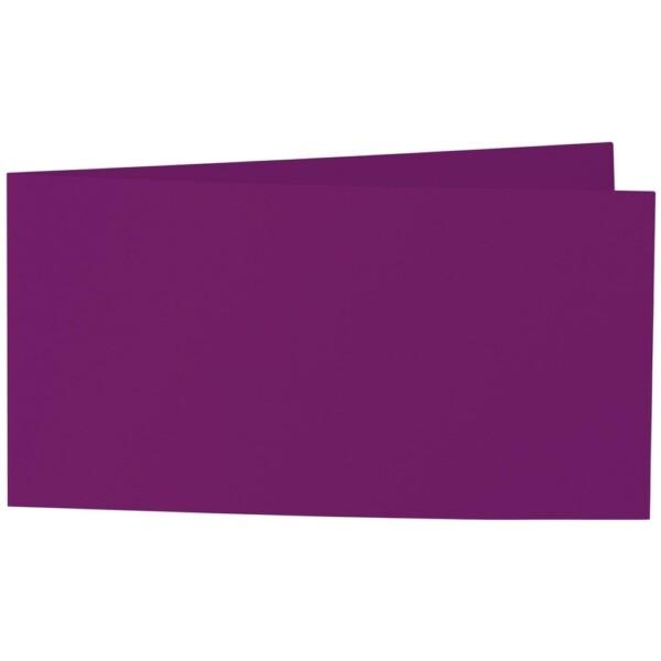 Artoz Samsa - 'Purple' Card. 420mm x 105mm 270gsm DL Bi-Fold (Short Edge) Card.