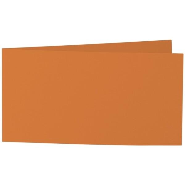 Artoz Samsa - 'Nectarine' Card. 420mm x 105mm 270gsm DL Bi-Fold (Short Edge) Card.