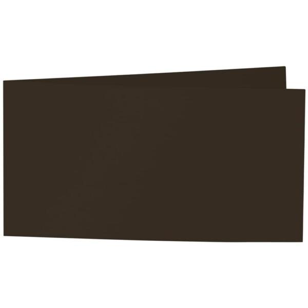 Artoz Samsa - 'Chocolate' Card. 420mm x 105mm 270gsm DL Bi-Fold (Short Edge) Card.