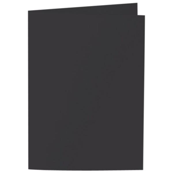 Artoz Samsa - 'Black' Card. 297mm x 210mm 270gsm A5 Folded (Long Edge) Card.