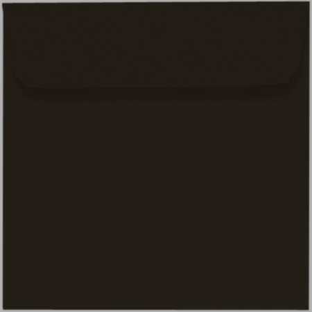 Artoz Samsa - 'Black' Envelope. 160mm x 160mm 135gsm Square Peel/Seal Envelope.