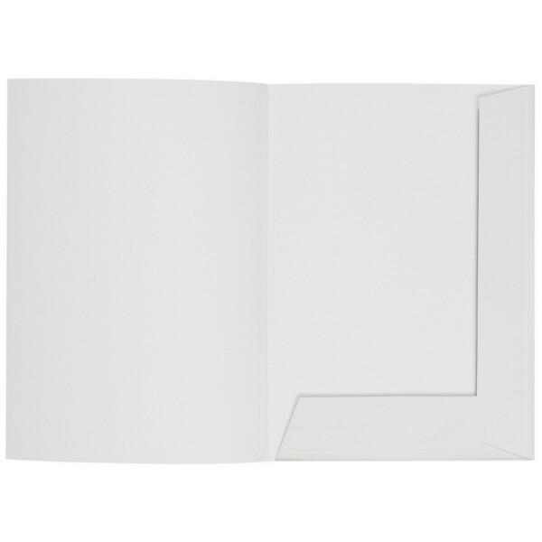 Artoz 1001 - 'Blossom White' Folder. 220mm x 310mm 220gsm A4 Presentation Folder.