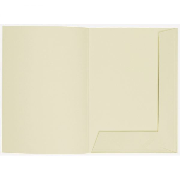 Artoz 1001 - 'Crema' Folder. 220mm x 310mm 220gsm A4 Presentation Folder.