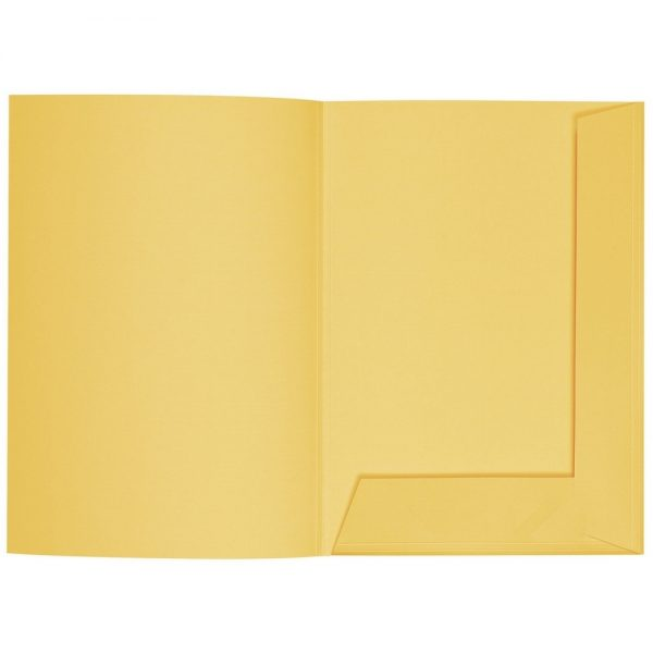 Artoz 1001 - 'Light Yellow' Folder. 220mm x 310mm 220gsm A4 Presentation Folder.