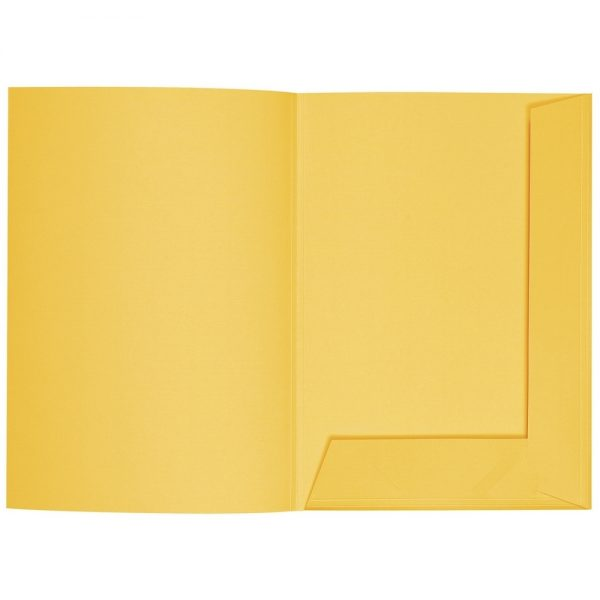 Artoz 1001 - 'Sun Yellow' Folder. 220mm x 310mm 220gsm A4 Presentation Folder.