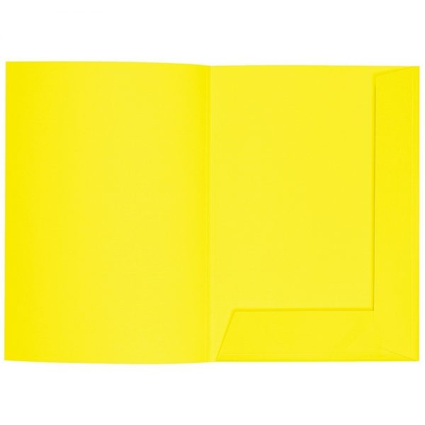 Artoz 1001 - 'Corn Yellow' Folder. 220mm x 310mm 220gsm A4 Presentation Folder.