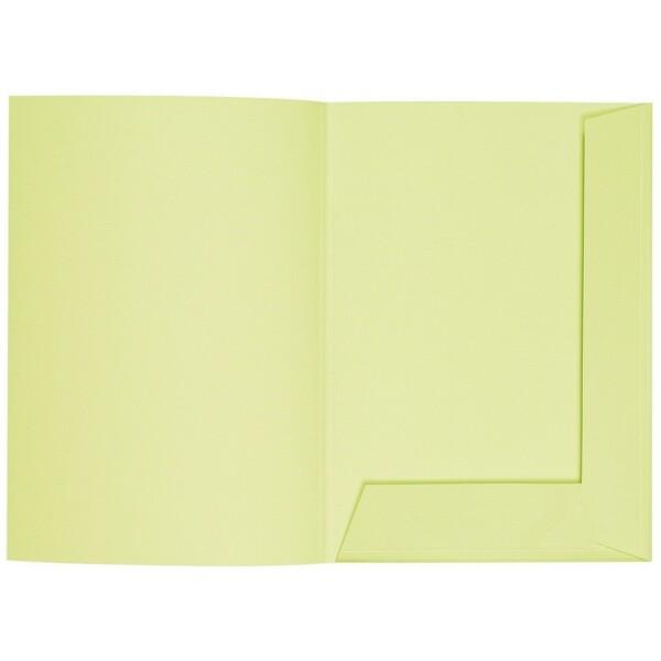 Artoz 1001 - 'Lime' Folder. 220mm x 310mm 220gsm A4 Presentation Folder.