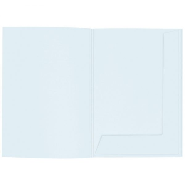 Artoz 1001 - 'Light Blue' Folder. 220mm x 310mm 220gsm A4 Presentation Folder.