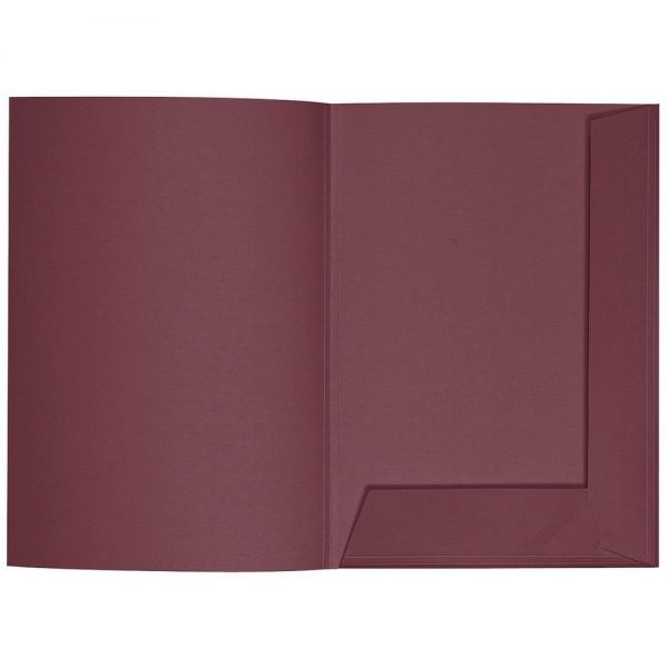 Artoz 1001 - 'Marsala' Folder. 220mm x 310mm 220gsm A4 Presentation Folder.