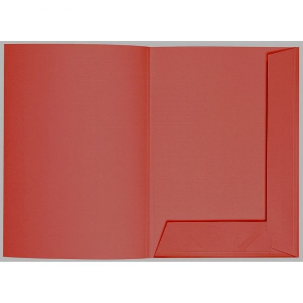 Artoz 1001 - 'Fire Red' Folder. 220mm x 310mm 220gsm A4 Presentation Folder.