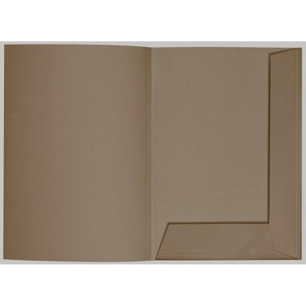 Artoz 1001 - 'Taupe' Folder. 220mm x 310mm 220gsm A4 Presentation Folder.