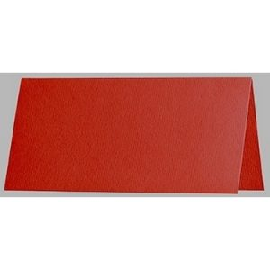 Artoz 1001 - 'Fire Red' Card. 132mm x 103mm 220gsm A7 Place Card.