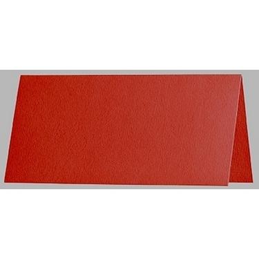 Artoz 1001 - 'Fire Red' Card. 132mm x 103mm 220gsm A7 Place Card.