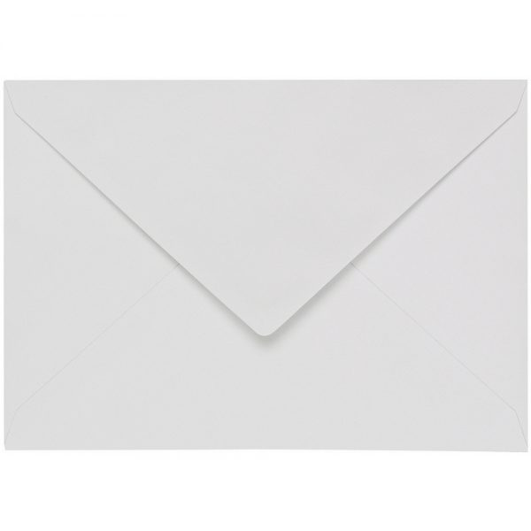 Artoz 1001 - 'Bianco White' Envelope. 110mm x 75mm 100gsm C7 Gummed Envelope.