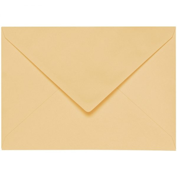 Artoz 1001 - 'Honey Yellow' Envelope. 110mm x 75mm 100gsm C7 Gummed Envelope.