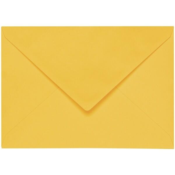 Artoz 1001 - 'Sun Yellow' Envelope. 110mm x 75mm 100gsm C7 Gummed Envelope.