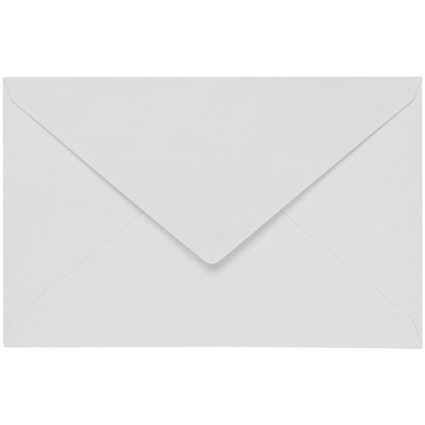 Artoz 1001 - 'Bianco White' Envelope. 140mm x 90mm 100gsm B7 Gummed Envelope.