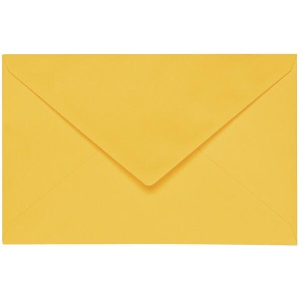Artoz 1001 - 'Sun Yellow' Envelope. 140mm x 90mm 100gsm B7 Gummed Envelope.