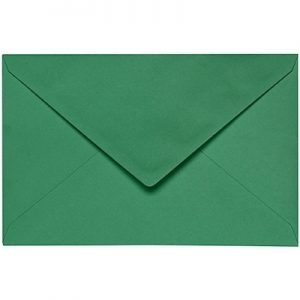 Artoz 1001 - 'Firtree Green' Envelope. 140mm x 90mm 100gsm B7 Gummed Envelope.