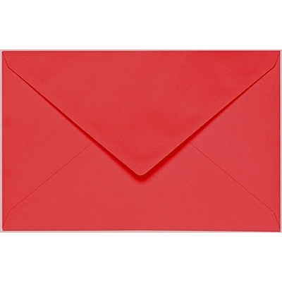 Artoz 1001 - 'Light Red' Envelope. 140mm x 90mm 100gsm B7 Gummed Envelope.