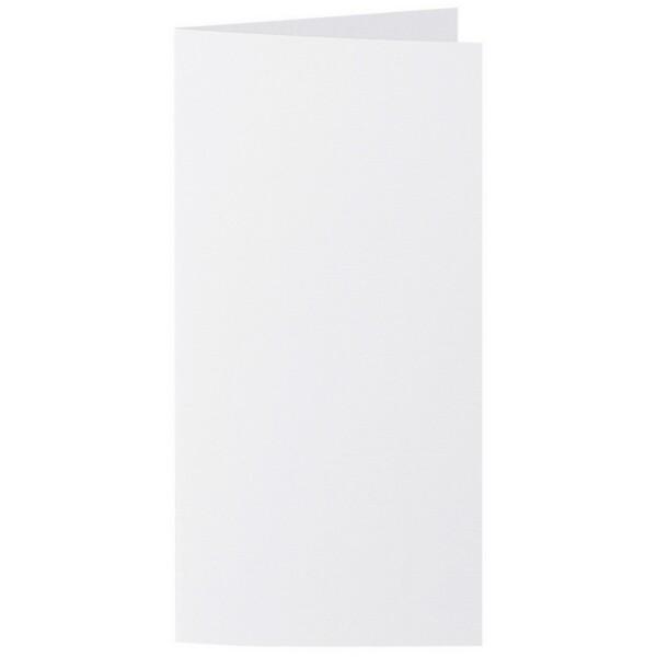 Artoz 1001 - 'Blossom White' Card. 210mm x 210mm 220gsm DL Bi-Fold (Long Edge) Card.