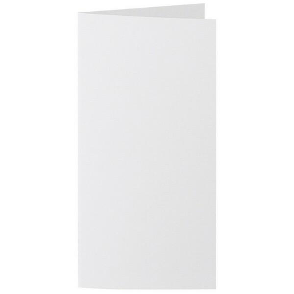 Artoz 1001 - 'Bianco White' Card. 210mm x 210mm 220gsm DL Bi-Fold (Long Edge) Card.