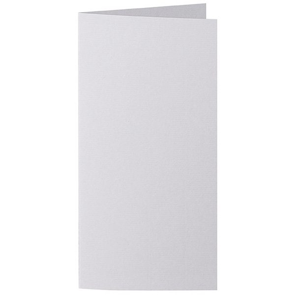 Artoz 1001 - 'Light Grey' Card. 210mm x 210mm 220gsm DL Bi-Fold (Long Edge) Card.