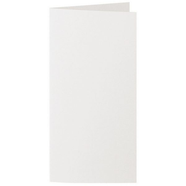 Artoz 1001 - 'Pale Ivory' Card. 210mm x 210mm 220gsm DL Bi-Fold (Long Edge) Card.