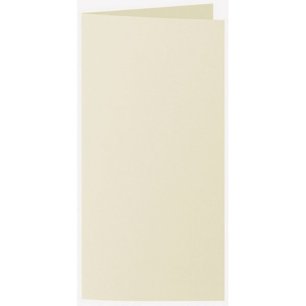 Artoz 1001 - 'Crema' Card. 210mm x 210mm 220gsm DL Bi-Fold (Long Edge) Card.