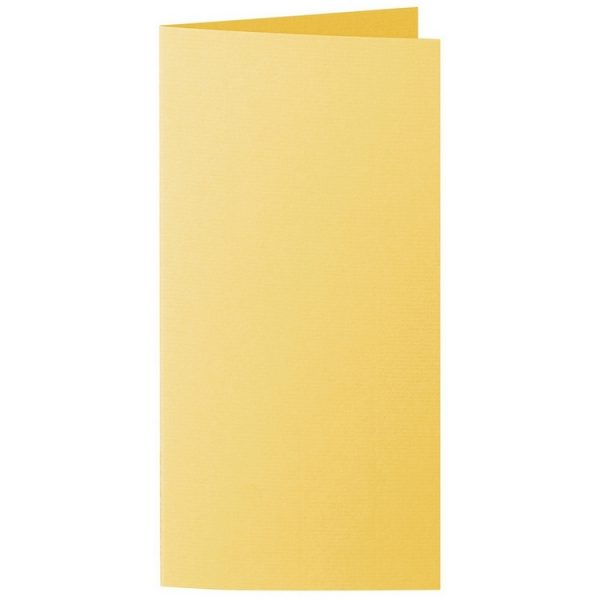 Artoz 1001 - 'Sun Yellow' Card. 210mm x 210mm 220gsm DL Bi-Fold (Long Edge) Card.