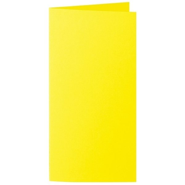 Artoz 1001 - 'Corn Yellow' Card. 210mm x 210mm 220gsm DL Bi-Fold (Long Edge) Card.