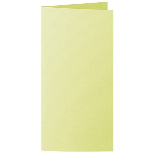 Artoz 1001 - 'Lime' Card. 210mm x 210mm 220gsm DL Bi-Fold (Long Edge) Card.