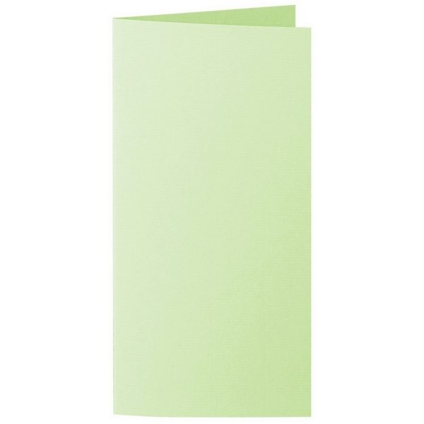 Artoz 1001 - 'Birchtree Green' Card. 210mm x 210mm 220gsm DL Bi-Fold (Long Edge) Card.