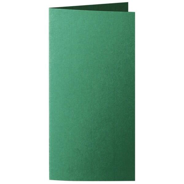 Artoz 1001 - 'Racing Green' Card. 210mm x 210mm 220gsm DL Bi-Fold (Long Edge) Card.