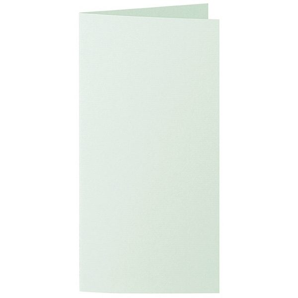 Artoz 1001 - 'Pale Mint' Card. 210mm x 210mm 220gsm DL Bi-Fold (Long Edge) Card.
