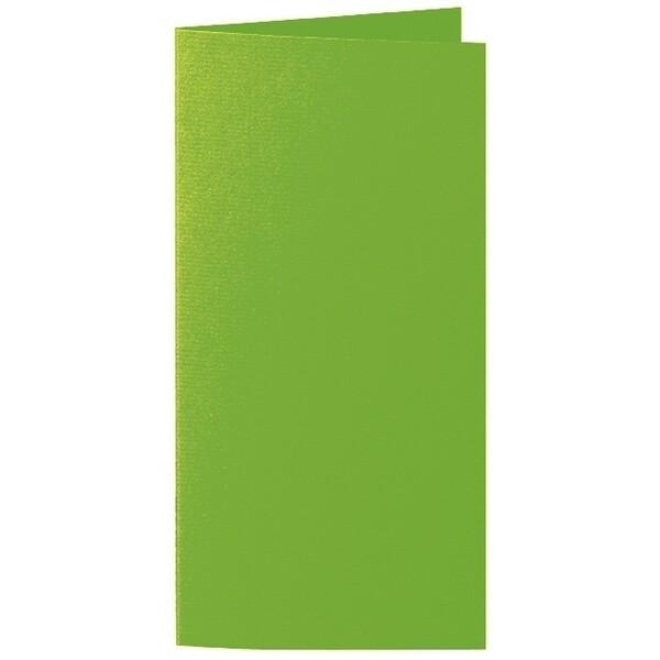 Artoz 1001 - 'Pea Green' Card. 210mm x 210mm 220gsm DL Bi-Fold (Long Edge) Card.
