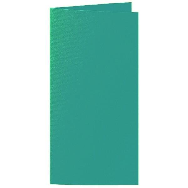Artoz 1001 - 'Tropical Green' Card. 210mm x 210mm 220gsm DL Bi-Fold (Long Edge) Card.