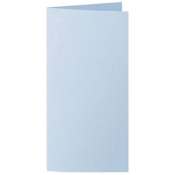 Artoz 1001 - 'Pastel Blue' Card. 210mm x 210mm 220gsm DL Bi-Fold (Long Edge) Card.