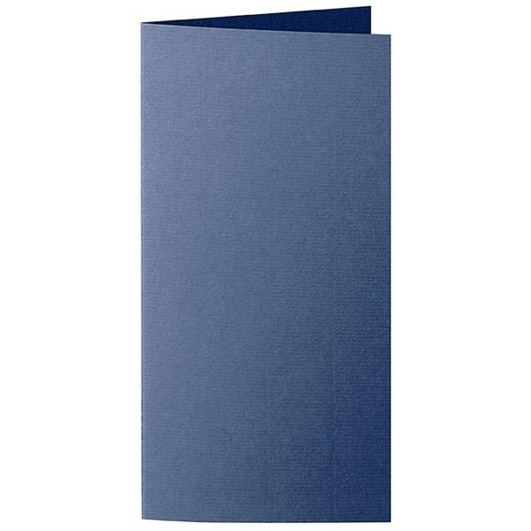 Artoz 1001 - 'Classic Blue' Card. 210mm x 210mm 220gsm DL Bi-Fold (Long Edge) Card.