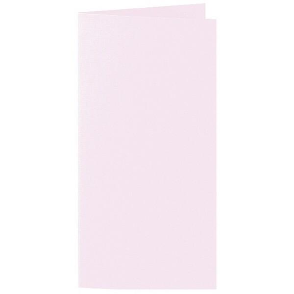 Artoz 1001 - 'Delicate Pink' Card. 210mm x 210mm 220gsm DL Bi-Fold (Long Edge) Card.