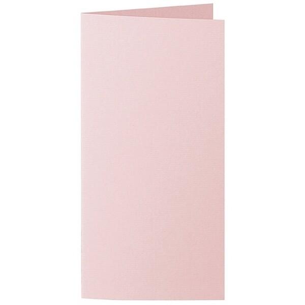 Artoz 1001 - 'Pink' Card. 210mm x 210mm 220gsm DL Bi-Fold (Long Edge) Card.
