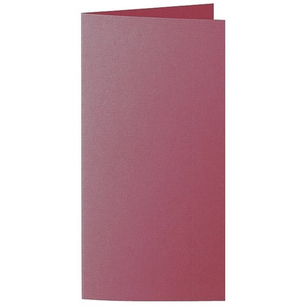 Artoz 1001 - 'Purple Red' Card. 210mm x 210mm 220gsm DL Bi-Fold (Long Edge) Card.