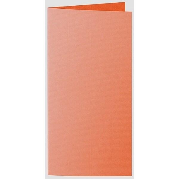 Artoz 1001 - 'Lobster Red' Card. 210mm x 210mm 220gsm DL Bi-Fold (Long Edge) Card.