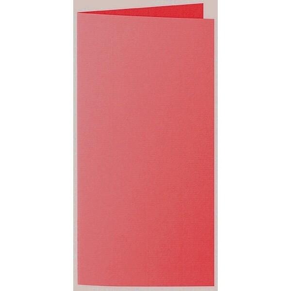 Artoz 1001 - 'Light Red' Card. 210mm x 210mm 220gsm DL Bi-Fold (Long Edge) Card.